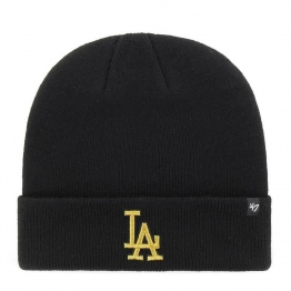 ШАПКА 47 BRAND LOS ANGELES DODGERS CUFF KNIT MTCUF12ACE-BK O/S(р) Black Акрил