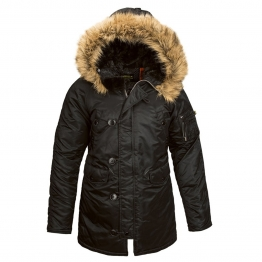 ALPHA INDUSTRIES WJN44502C1 N-3B W S(р) Black нейлон