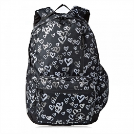 РЮКЗАК CONVERSE GO BACKPACK 10006824-001 O/S(р) Black/Silver Полиэстер
