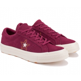 КЕДЫ CONVERSE ONE STAR OX 163192C 37(4,5)(р) Red Замша