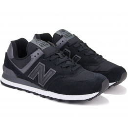 КРОССОВКИ NEW BALANCE ML574ECF 42(8,5)(р) Black Замша