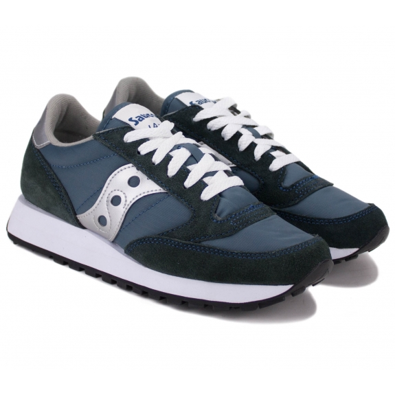 SAUCONY JAZZ ORIGINAL 1044-2 37,5(6,5)(р) Кроссовки NVY/SIL Замша/Материал