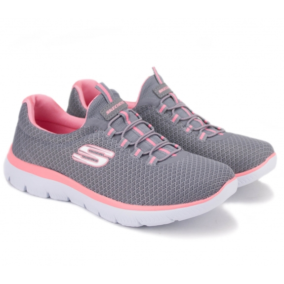 SKECHERS SUMMITS 12980 GYK (KW4270) 36,5(6,5)(р) Кроссовки Grey/Pink Материал