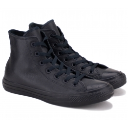 CONVERSE CHUCK TAYLOR ALL STAR HI BLACK MONO 135251C 37(4,5)(р) Кеды Black/Black 100% Кожа