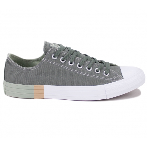 CONVERSE CHUCK TAYLOR ALL STAR OX COLOR BLOCK 159551C 44(10)(р) Кеды Khaki Материал