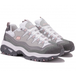 КРОССОВКИ SKECHERS ENERGY 13414 GYW (KW5326) 38(8)(р) Grey Кожа