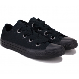 CONVERSE CHUCK TAYLOR ALL STAR BIG EYELETS OX 559923C 38(7,5)(р) Кеды Black/Black Материал