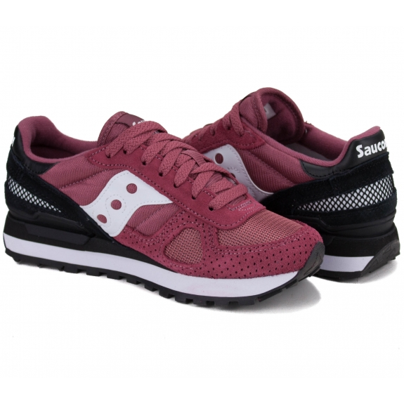 КРОССОВКИ SAUCONY SHADOW ORIGINAL S1108-698 36(5,5)(р) Bordo/Black Замша/Текстиль